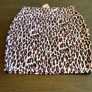 NWT Charlotte Russe leopard mini skirt